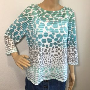 Ruby Rd. Petite Women's Large Blouse Top Shirt PL